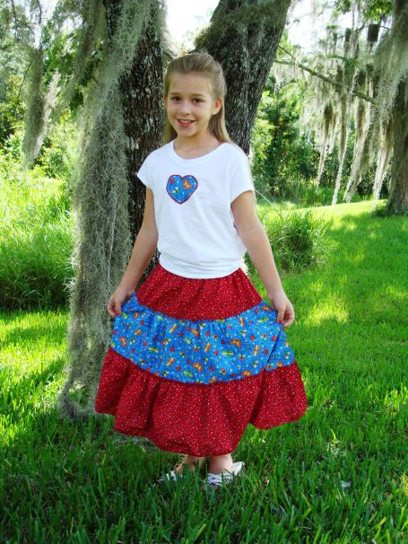 Triple Tiered Twirly Skirt