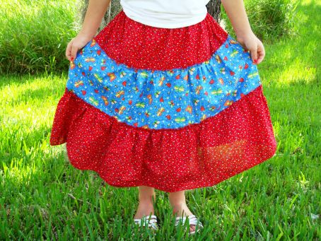 The Triple Tiered Twirly Skirt