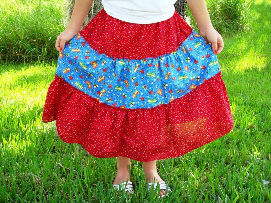 Сшить ребенку юбку из своей юбки
